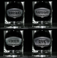 Whiskey Bourbon Scotch Rye Glass Set