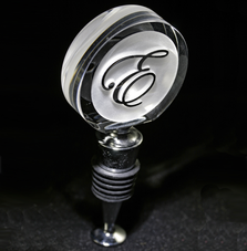 Monogrammed Wine Bottle Stoppers
