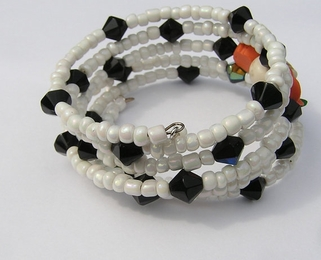 Day of the Dead Skull Wrap Around Bracelet #5