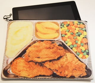 Neoprene IPAD Zippered Bag (HUNGRY) (LARGE)