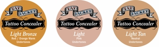 Tatjacket Tattoo Concealer Blender Pack 1 (LIGHT, LT TAN, LT BRONZE)