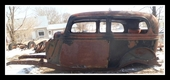 1934 FORD 2 DOOR SEDAN BODY ON FRAME WITH PARTS