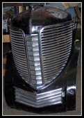 1938 DESOTO CAR GRILL ASSEMBLY NICE ! ORIGINAL