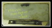 1940 - 1947 FORD PICKUP TRUCK GLOVE BOX DOOR ORIGINAL