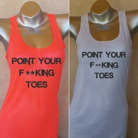 Racer Point Your Toes Tank