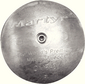 Rudder Anode Streamlined - Zinc With Slotted Screw -Martyr Anodes