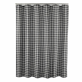 M. Style Midnight Black Classic Check Shower Curtain