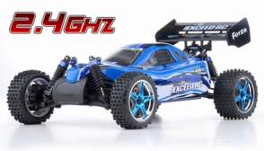 1/10 2.4Ghz Exceed RC Forza .18 Engine RTR Nitro Powered Off Road Buggy Baha Blue