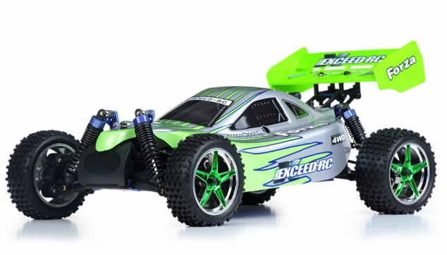 1/10 2.4Ghz Exceed RC  Forza .18 Engine RTR Nitro Powered Off Road Buggy (Green)