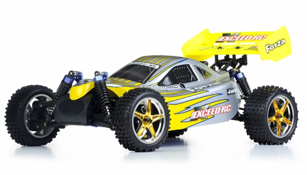 1/10 2.4Ghz Exceed RC Forza .18 Engine RTR Nitro Powered Off Road Buggy (Yellow)