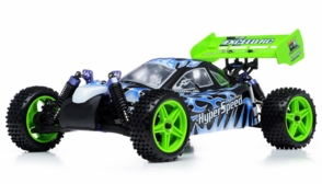 1/10 2.4Ghz Exceed RC Hyper Speed Beginner Version .16 Engine Nitro Powered Off Road Buggy Fire Black