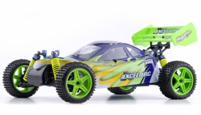 1/10 2.4Ghz Exceed RC Hyper Speed Beginner Version .16 Engine Nitro Powered Off Road Buggy Fire Green