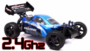 1/10 2.4Ghz Exceed RC Hyper Speed Beginner Version .16 Engine Nitro Powered Off Road Buggy Storm Blue