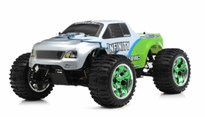 1/10 2.4Ghz Exceed RC Infinitve Nitro Gas Powered RTR Off Road Monster 4WD Truck (Green)