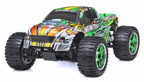1/10 2.4Ghz Exceed RC Infinitve Nitro Gas Powered RTR Off Road Monster 4WD Truck Stripe Green