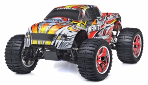 1/10 2.4Ghz Exceed RC Infinitve Nitro Gas Powered RTR Off Road Monster 4WD Truck Stripe Red