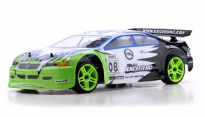 1/10 2.4Ghz Exceed RC Nitro Gas Powered Ultra RTR On Road Racing Car Fire Green