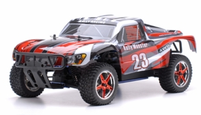 1/10 2.4Ghz Exceed RC Rally Monster Nitro Gas Powered RTR Off Road Rally Car 4WD Truck Stripe Red