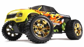 1/10 Exceed RC Brushless PRO 2.4Ghz Electric Infinitive EP RTR Off Road Truck Fire Yellow