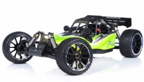 1/5th Giant Scale Exceed RC Barca 30cc Gas-Powered Off-Road Remote Control RC Buggy  Almost Ready to Run ARTR  & Fail Safe (AA Green)