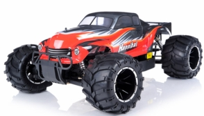 1/5th Giant Scale Exceed RC Hannibal 30cc Gas-Engine Remote Controlled Off-Road RC Monster Truck Ready to Run RTR  & Fail Safe (AA Red)