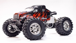 Exceed RC 1/8 Monster Truck MadBeast Nitro Gas Almost Ready to Run ARTR  .28 Level Engine Black/Red Version