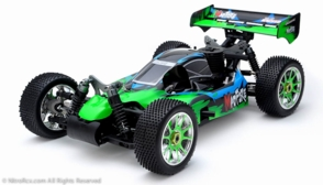 Exceed RC 1/8th Scale MadFire .21 Nitro Fuel 4WD Remote Control RC Buggy 100% RTR for Beginners 2.4Ghz Radio Control [Gama Green]