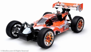 Exceed RC 1/8th Scale MadFire .21 Nitro Gas 4WD RC Buggy 100% RTR for Beginners [Gama Orange]  2.4Ghz