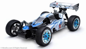 Exceed RC 1/8th Scale MadFire .21 Nitro Power 4WD RC Buggy 100% Ready to Run for Beginners 2.4Ghz Radio Control [Alpha Blue]