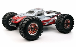 Exceed RC 1/8th Scale MadStorm Nitro Power Monster RC Truck w/ .21 Engine, 4WD, 100% Ready to Run [Bravo Red] 2.4Ghz
