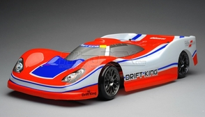 Exceed RC 2.4Ghz MadSpeed Drift King Brushless Edition 1/10 Electric Ready to Run Le Mans Drift Car  (Red/White)