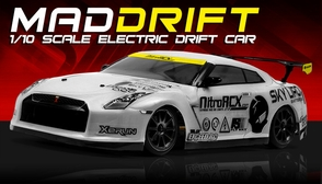Exceed RC 2.4Ghz MadSpeed Drift King Edition 1/10 Electric Ready to Run Drift Car (White)