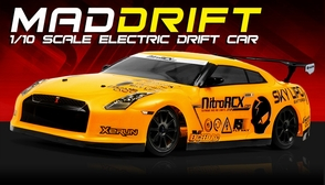 Exceed RC 2.4Ghz MadSpeed Drift King Edition 1/10 Electric Ready to Run Drift Car (Yellow)