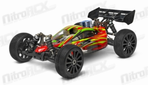 Iron Track WindStorm 1:8 Scale ARTR 4WD Buggy with GO .21 Nitro Engine (Red)