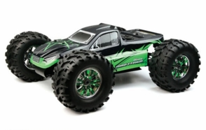 Professional 2.4Ghz 1/8th Scale Exceed RC MadStorm Monster Truck .28 Engine Nitro Power 100% Ready to Run Racing Edition [Star Green]