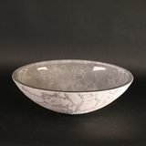 ATELIER LUNA OVAL GREY - Dual Textured Bathroom Vessel Sink