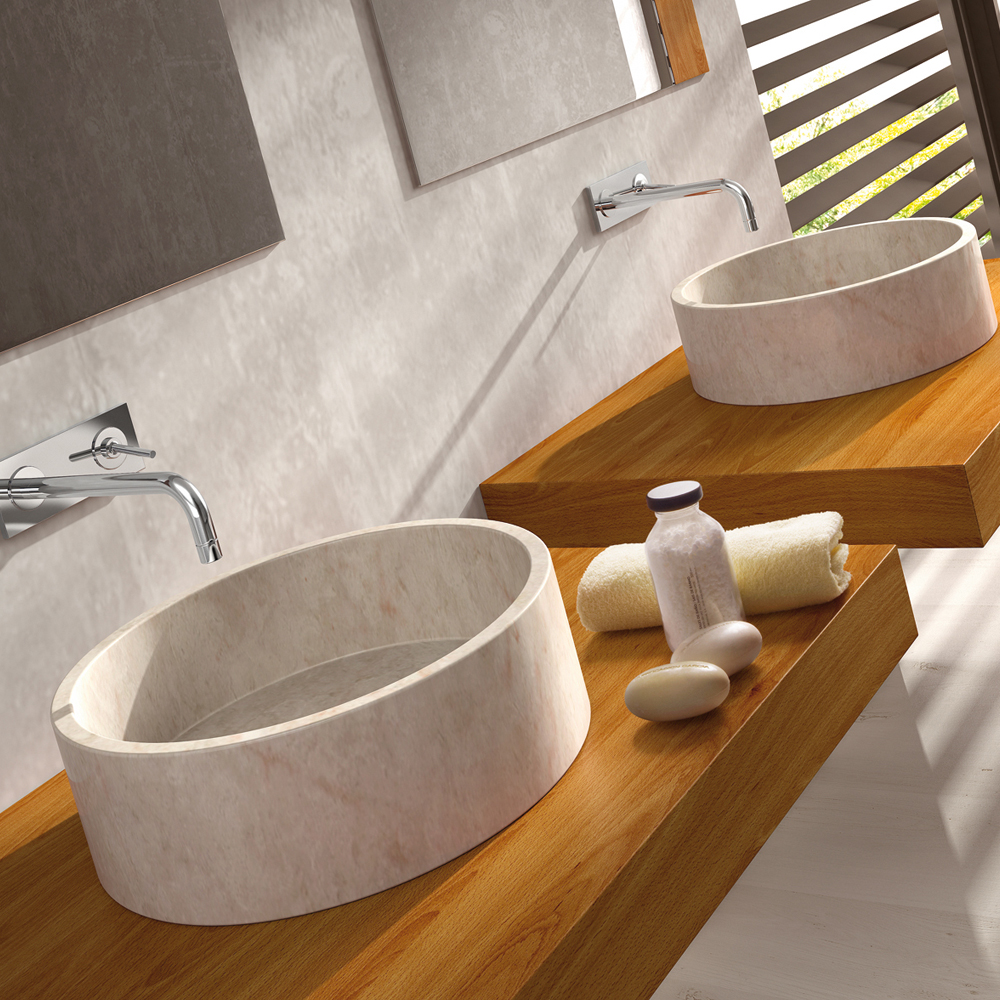 Stones In The Sink : Stone Bali Beige Contemporary Natural Stone Sink