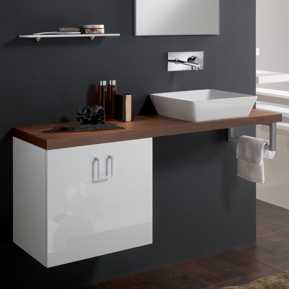 Veneered Walnut High End Bathroom Sink Vanity Stand – Bathroom Sink and Vanity
