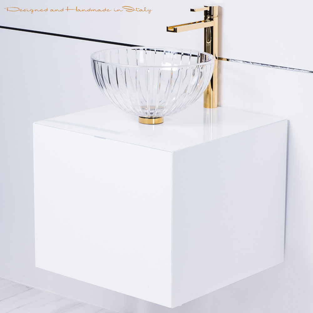 white lacquered bathroom vanity 20 inch