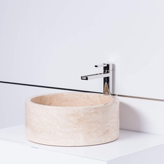 Koh Samui Natural Stone Luxury Vessel Sink | Sandstone Beige