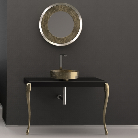 Console Bathroom Sinks : HOME ::: Sales ::: MUSA Console Black Gold Leaf