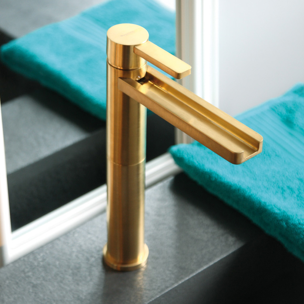 Fantastic Gold Plated Bathtub Faucet With Double Handles  Traditional  Bathtub
