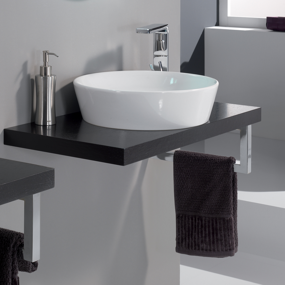 modern cleo 08 veneered wenge bathroom sink stand