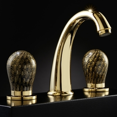 MURANO 3-Hole Black Gold Luxury Bathroom Faucet