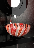 MURANO LAGUNA RED VINTAGE (glass vessel sink)