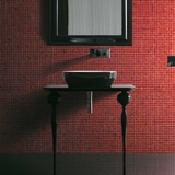 MUSA CONSOLE 35 INCH LACQUERED IN SHINY BLACK