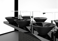 TEKNO 40 Black Mat Vessel Sink