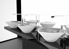 TEKNO 40 White Mat Vessel Sink