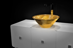 TEKNO LUX Gold 24kt Vessel Sink