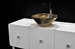 TEKNO LUX Platinum Glass Vessel Sink